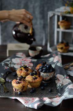¡Qué cosa tan dulce!: Muffins de limón y mascarpone con arándanos