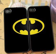 Batman Cute Couple phone case for iphone 4/4s 5/5s Galaxy s3 s4 s5