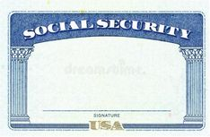 Photo about Blank American Social Security Card.