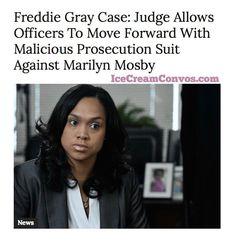 Get the scoop @ IceCreamConvos.com or the ICC app! Link in bio. #MarilynMosby #FreddieGray #Lawsuit #Baltimore