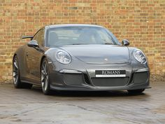 Porsche 911 (991) GT3 in Agate Grey with Black Leather & Alcantara for sale at Romans International.