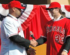 The Angels celebrate their big time free agent acquisitions.