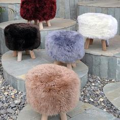 Purchase Taso Lamb Fur Cube Pouf-stool from GDFStudio on Dot & Bo. Beige Carpet, Diy Carpet, Stair Carpet, Hall Carpet, Puff Gigante, Living Room Furniture, Home Furniture, Rustic Furniture, Antique Furniture