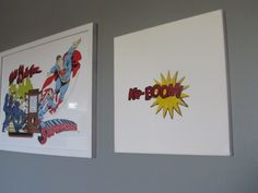 templates to stencil canvases and canvas holders for superhero bedroom