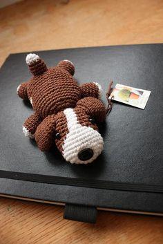 little crochet dog
