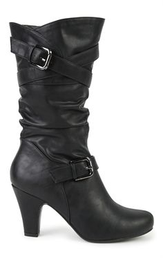aabbf91c97b9 Deb Shops Mid Height Heeled Boot with Crossover Buckled Straps  40.00 Dress  Shoes