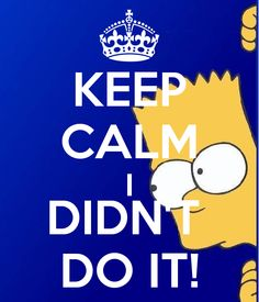 KEEP CALM I DIDN'T  DO IT!