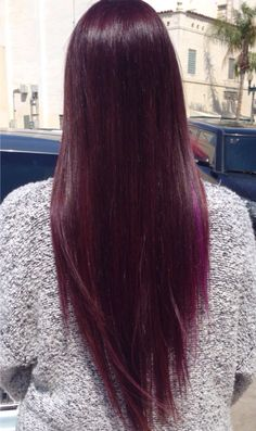 Dark violet hair. Using only Joico's 4FV (wild orchid)  This is my exact hair color :) Ty loves it.