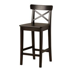 INGOLF Bar stool with backrest IKEA Footrest for extra sitting comfort.  $79.99    Spray them red??