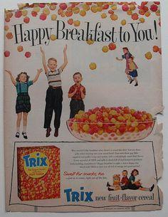 1950s TRIX CEREAL Vintage Advertisement by Christian Montone, via Flickr