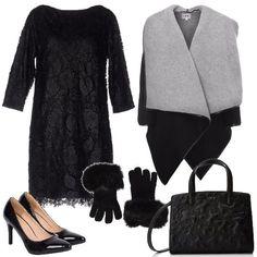 e225bd9688c5 Elegante in nero  outfit donna Chic per cerimonia e serata fuori