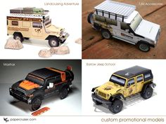 Paper models make great promos | http://papercruiser.com/?p=1149