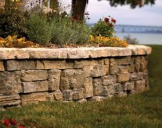 our new patio wall stone    Belvedere Retaining Wall and Decorative Stone