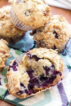 Blueberry Orange Crumb Muffins | These light, fluffy muffins are packed with sweet blueberry flavor complemented by the orange flavor. Nothing short of amazing!