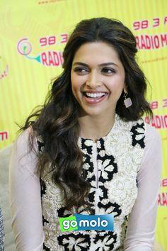 Deepika Padukone at the Promotion of Hindi movie 'Ram-Leela' at Radio Mirchi studios in Mumbai