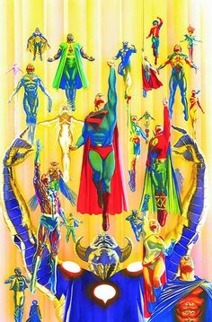Superman and Justice Society of America by Alex Ross