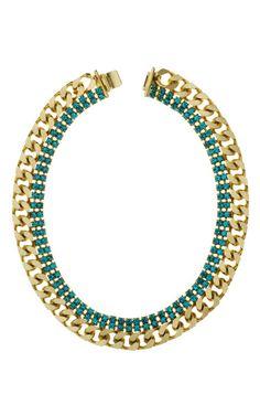 Janis Savitt- Slim Chain Link Necklace