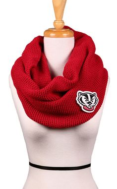 Go Bucky! Wisconsin Badgers Scarf...I'll take one, please :)
