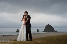Cannon beach elopement, erica ann photography, oregon coast wedding, hawaiian bride, dapper groom