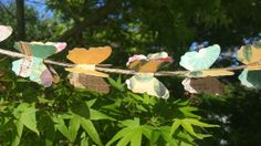 Vintage Butterfly Garland/Banner on jute by PaperAndLaceStudios https://www.etsy.com/listing/183858303/vintage-butterfly-garlandbanner-on-jute