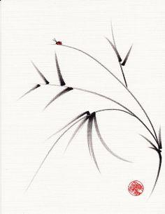 """sugar plum"" - original ink brush pen painting | Flickr - Photo Sharing!"