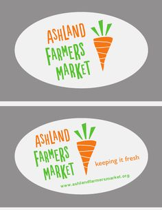 Logos for the brand new Ashland MA Farmers Market!