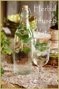 Fill a pretty bottle with good quality water and add sprigs of applemint. Depending on how intense you want the flavor, slightly bruise some of the leaves, releasing the applemint oils into the water. Refrigerate for a couple of hours. Serve with plenty of ice and a nice sprig of mint.