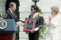 Reagan with Michael Jackson