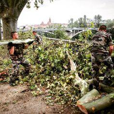 [Série : INTERVENTION D'URGENCE 2/4] Suite à la #tempête du 31 août 2015 le Préfet du #Tarn et #Garonne a demandé aux armées dintervenir au profit de la #communauté dagglomérations de #Montauban. Pour faire face à lampleur des dégâts les #sapeurs du 17e régiment de parachutistes ont été engagés par létat-major de lofficier général de la zone de défense sud-ouest (OGZDS-SO) pour aider au désenclavement de la #ville. Ils ont ainsi participé au rétablissement et à la sécurisation des axes…