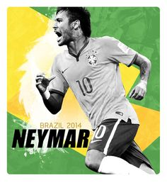 Neymar #poster #CDM2014 #Brazil #football