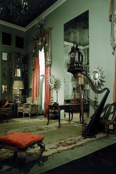 Publication: House & GardenImage Type: PhotographDate: April The drawing room in Tony Duquette's house in Beverly Hills, Califor. Victorian Rooms, Victorian Gothic Decor, Gothic Room, Aesthetic Rooms, Vintage Home Decor, My Room, My Dream Home, Interior Decorating, 1920s Interior Design
