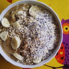 "Barley ""coffee"" nice-cream with tasty stuff on it.  #nicecream #feelthelean #rawnola #lonijane #rawvegan #rawtill4 #smoothiebowl #highcarb #starchsolution #whatveganseat #vegansofig #veganfoodshare #fitchicks #801010 #saturdaymorning"
