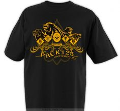Design your own pack t-shirts.  Pretty decent price and nice selection of shirt/ink colors.