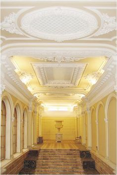 The Main Staircase of the Small Marble Palace, now housing the European University of St Petersburg.    Designed by E. Scmidt, 1859.