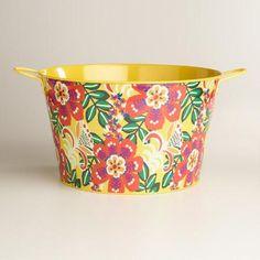 Caribbean Floral Metal Party Tub | World Market