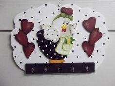 Porta chaves galinha | Artesanatos Ingrid Carvalho | 172507 - Elo7