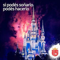 Todo lo que es una imagen en tu corazón es un sueño que se puede cumplirSe acerca #Disney! El sueño más lindo de todos con #Enjoy15