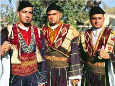 More colorful, similar costumes worn by the West Assyrians; members of the Syrian   Orthodox Church in (northeast syria or the khabour area)