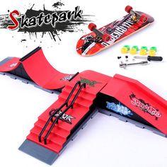 Ultimate Parks Ramp Parts A-F Finger Skateboard Fingerboard Ramps Skate Park For Tech Dec Mini Skateboard Toy Finger Board Toy