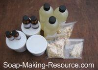 Soap making ingredients.