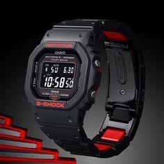 Zegarek Męski Casio G-Shock Bluetooth G Shock Watches, Cool Watches, Watches For Men, Casio G-shock, Casio Watch, Burberry Men, Gucci Men, Nerd Chic, G Shock Men