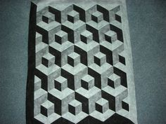 Stacking my Blocks in Black, White and Grey - Quilters Club of America