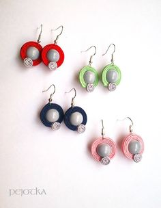 Soutache Earrings, Drop Earrings, Jewels, Handmade, Diy, Ideas, Fashion, Diy Kid Jewelry, Brides