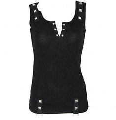Attitude Clothing - Alternative, Gothic, Punk, Rock Clothing, Shoes, Brands + Accessories - Restless N' Wild Chain Neck Women's Vest