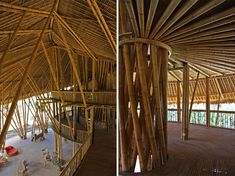 """Sustainable Architecture: """"Heart of Green School"""" bamboo structure, Bali [Image Credit: http://www.greenschool.org/]"""