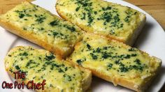 The One Pot Chef Show: Easy Cheesy Garlic Bread - RECIPE
