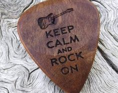 Wood Guitar Pick Premium Quality Handmade by NuevoWoodcrafts
