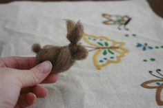 a wool rabbit craft and sweet spring story on the first easter rabbit. June Cleaver in yoga pants: celebrating spring