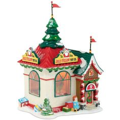Department 56 North Pole Village The Jolly Fellow Toy Company... (£51) ❤ liked on Polyvore featuring home, home decor, holiday decorations, christmas, no color, department 56 figurines, department 56, christmas holiday decorations, christmas holiday decor and plastic figurines