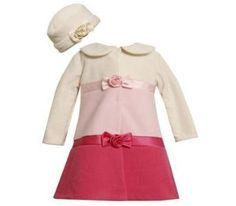 $26.99 adorable baby-girl coat with hat #baby-girl #babycoat #pinkcoat
